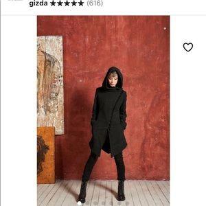Jackets & Blazers - Asymmetrical Wool Coat